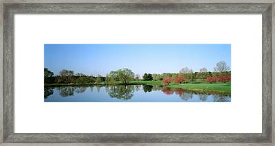 Pond At A Golf Course, Towson Golf And Framed Print by Panoramic Images