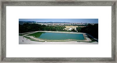 Pond At A Palace, Schonbrunn Palace Framed Print