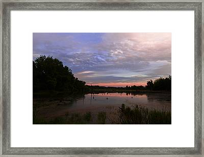Pond At Carriage Hill Framed Print