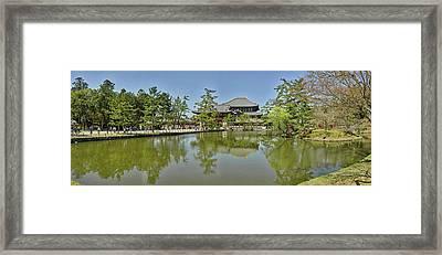Pond At Todai-ji Temple, Nara, Nara Framed Print