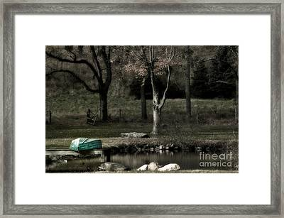 Pond Boat Framed Print by Nicki McManus