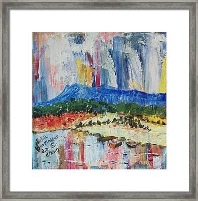 Pond By Massanutten Peak - Sold Framed Print by Judith Espinoza