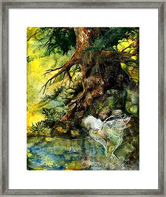 Pond Fairy Framed Print by Sherry Shipley