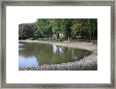 Pond In The Fall Framed Print by Vadim Levin