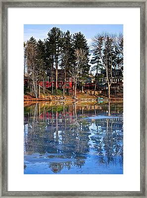 Pond Of Ice And Trees Framed Print