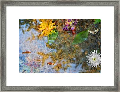 Pond Or Garden? Framed Print