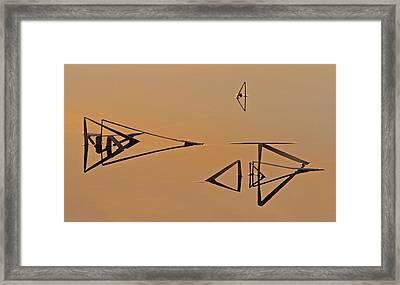 Pond Reeds Sunrise 3 Framed Print