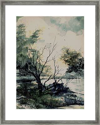 Pond Framed Print by Sam Sidders
