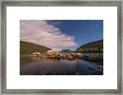 Pond Trails Framed Print
