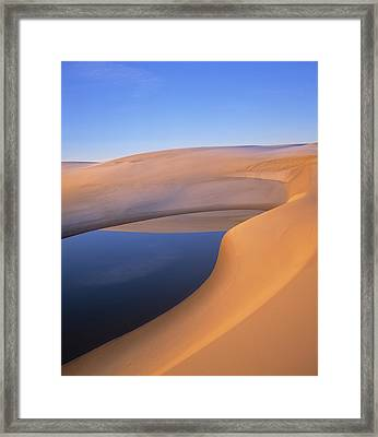 Pond, Umpqua Dunes, Oregon, Usa Framed Print