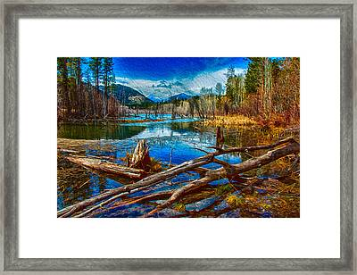 Pondering A Mountain Framed Print