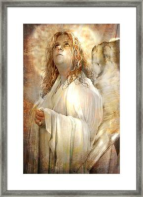 Pondering Angel Framed Print