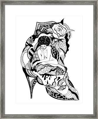 Pondering Beauty Framed Print by Kenal Louis