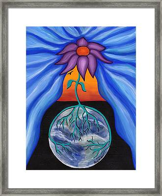 Pondering Creation - Behind The Curtain Framed Print