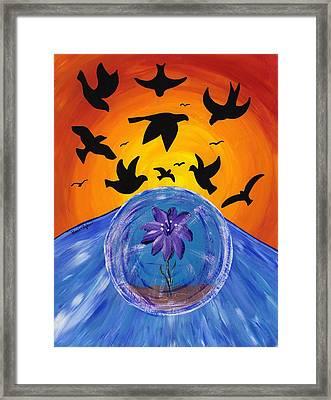 Pondering Creation - God Speed Framed Print