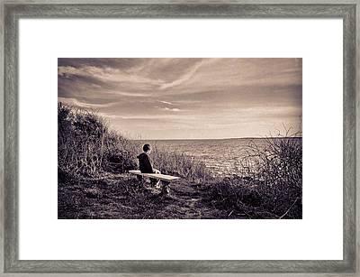 Pondering Framed Print by Jonathon Shipman