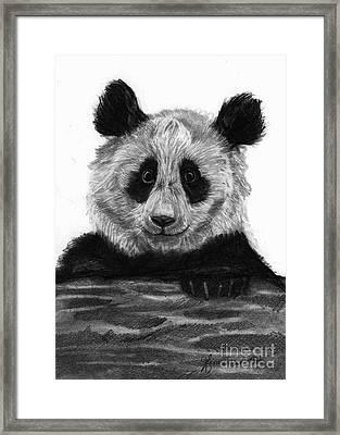 Pondering Panda Framed Print