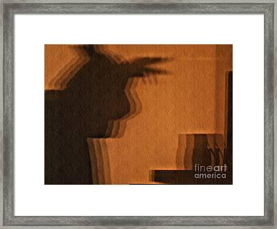 Pondering Shadowplay Framed Print by Chris Sotiriadis