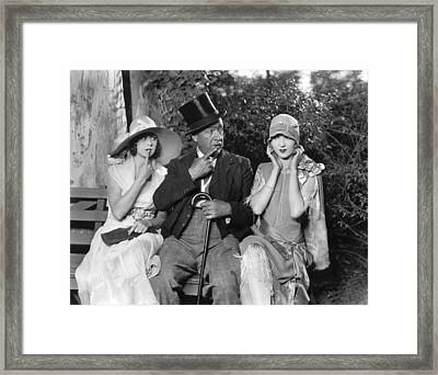 Pondering The Modern Flapper Framed Print by Underwood Archives