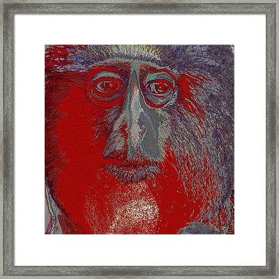 Pondering Upon The Meaning Of Life Framed Print