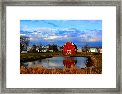 Pondside Farms Framed Print
