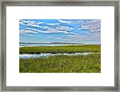 Ponquogue Bridge Framed Print