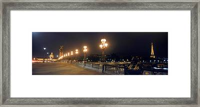Pont Alexandre IIi With The Eiffel Framed Print