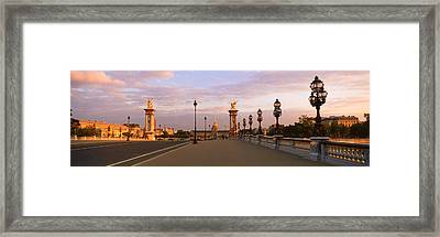 Pont Alexandre IIi With The Hotel Des Framed Print