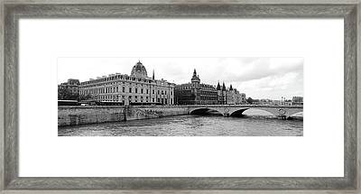 Pont Au Change Over Seine River, Palais Framed Print by Panoramic Images