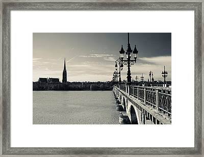 Pont De Pierre Bridge Across Garonne Framed Print by Panoramic Images