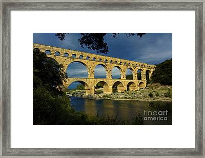 Pont Du Gard. France Framed Print by Bernard Jaubert