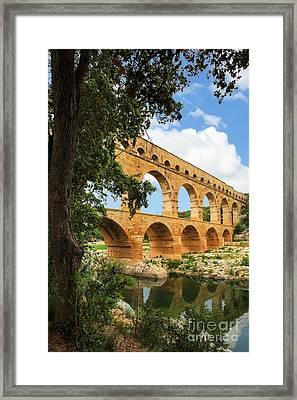 Pont Du Gard Framed Print by Inge Johnsson