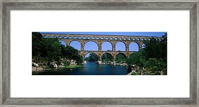 Pont Du Gard Roman Aqueduct Provence Framed Print