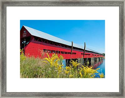 Framed Print featuring the photograph Pont Marchand by Bianca Nadeau