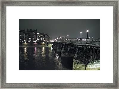 Pont Neuf Bridge At Night - Paris France Framed Print