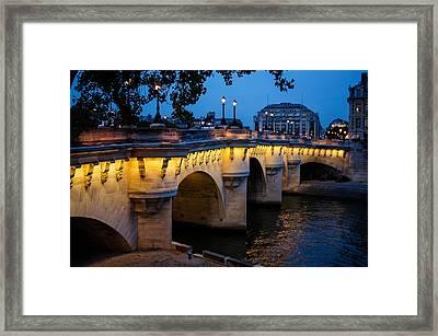 Pont Neuf Bridge - Paris France I Framed Print by Georgia Mizuleva