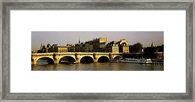 Pont Neuf Bridge, Paris, France Framed Print by Panoramic Images