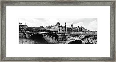 Pont Notre-dame Over Seine River Framed Print by Panoramic Images