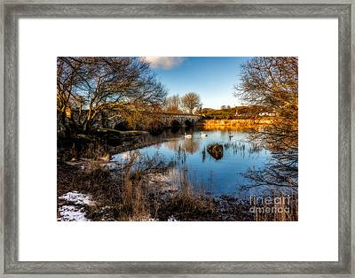 Pont Pen Y Llyn Bridge Framed Print by Adrian Evans