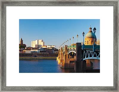Pont Saint-pierre Bridge And The Dome Framed Print