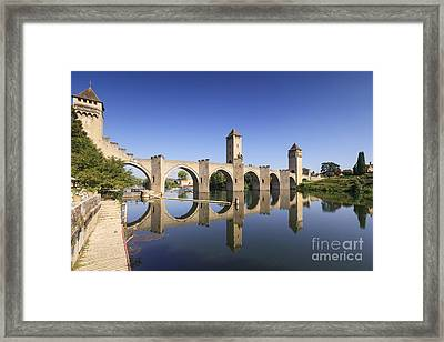 Pont Valentre Cahors France Framed Print by Colin and Linda McKie