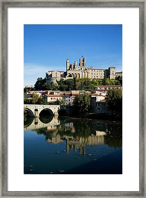 Pont Vieux Bridge Over River Orb Framed Print by Panoramic Images