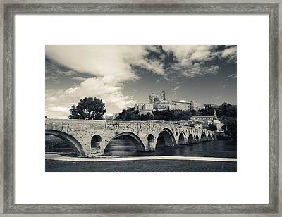 Pont Vieux Bridge With Cathedrale Framed Print by Panoramic Images