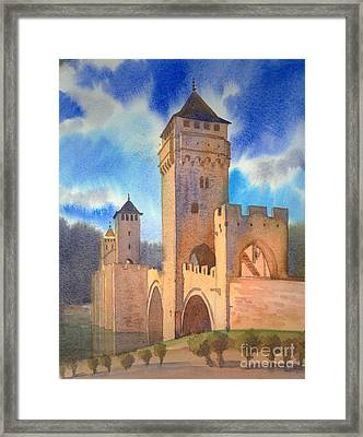 Pont Volontre Cahors France Framed Print by Katia Weyher