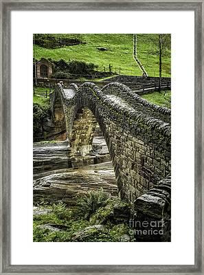 Ponte Dei Salti  Lavertezzo Framed Print by Timothy Hacker