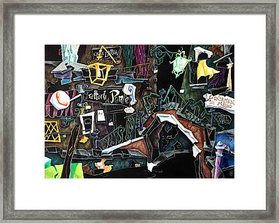 Ponte Del Megio - Venice Fine Art Collage  Framed Print by Arte Venezia