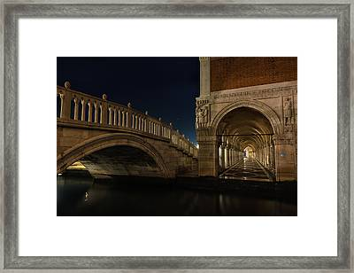 Framed Print featuring the photograph Ponte Della Paglia by Marion Galt