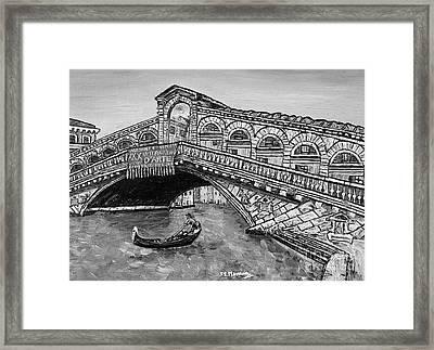 Ponte Di Rialto Framed Print by Loredana Messina