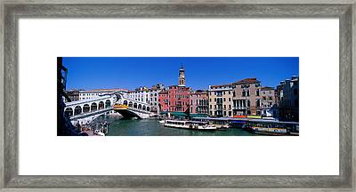 Ponte Di Rialto Venice Italy Framed Print by Panoramic Images