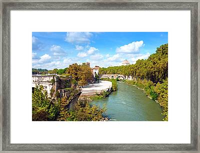 Ponte Emilio Today Called Ponte Rotto Framed Print